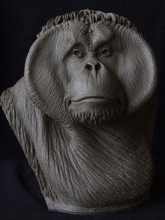 Orangutan sculpt: UPDATED: painted photos added!