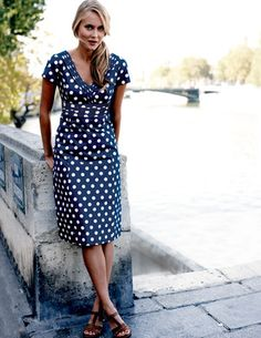 Gorgeous dress.. flattering on almost all... and polka dotted fun as the cherry on top.