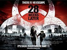 Twenty eight weeks later -  is a 2007 British-Spanish post-apocalyptic science fiction horror film, structured as a sequel to the 2002 critical and commercial success, 28 Days Later. 28 Weeks Later was co-written and directed by Juan Carlos Fresnadillo, with Danny Boyle and Alex Garland, respectively director and writer of 28 Days Later, now acting as executive producers.
