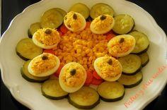 Corona de huevos. Fácil y rápida ideal para el verano. Su receta:postresyotrasrecetas.blogspot.com