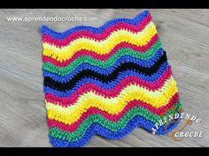 Ponto de Crochê Chevron - Aprendendo Croche - YouTube