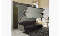 Armoire lit avec canapé intégré. D'une conception française, il offre à la fois le confort et l'élégance. Son éclairage LED intégré lui offre un design moderne.