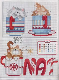 Kitty in a mug / cross stitch chart