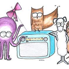 'Radioparty' by Sascha Kläger Peanuts Comics, Art, Illustration Animals, Sheep, Friends, Art Background, Kunst, Performing Arts, Art Education Resources