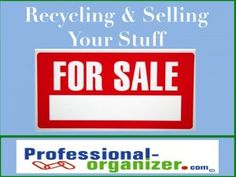 recycling and selling your stuff
