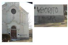 Repudio por pintada en la Iglesia de la Colonia San José