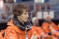 STS-114 Commander Eileen Collins has made four spaceflights aboard the US Space Shuttles, serving her 1st command aboard Discovery.She piloted and landed the vehicle twice, making her the first woman to have the controls of a US Spacecraft.