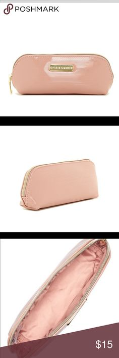 "New Steve Madden Pencil Case in Blush! New Steve Madden Pencil Case in Blush! Beautiful sought after color, this pencil case can also be used as a makeup bag.  It is approximately 3"" H X 8.25"" W X 2.25"" D.        Bundle and save (Price is firm if not bundled) Steve Madden Accessories"