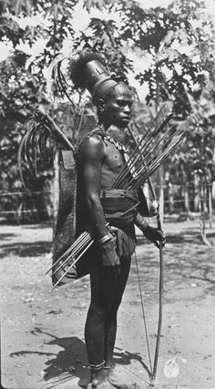 Indigenous warrior from Ende, Flores