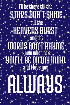 Always | Bon Jovi Lyrics. This song is amazing one of my favorite Bon Jovi songs.
