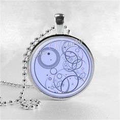 Doctor Who Necklace Gallifreyan Art Pendant Jewelry with Ball Chain, Dr Who on Etsy, $8.95