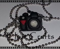 Polymer clay miniature camera necklace by ElixirCraftsGr on Etsy Camera Necklace, Dog Tag Necklace, Miniature Camera, Polymer Clay Miniatures, Polymer Clay Necklace, Jewerly, Necklaces, Unique Jewelry, Handmade Gifts