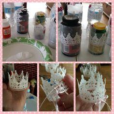Baby lace crown diy.