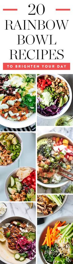 20 Rainbow Bowl Recipes to Brighten Your Day #purewow #food #dinner #easy #lunch #recipe #breakfast #healthy