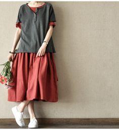 Soft Sweet Lovely Short Knitwear Cotton Top Blouse Women Clothes LR015