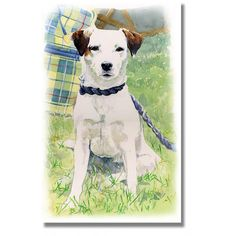 Meet Sparky. She's the mother of my terrier Riley. Her owner Emma comes with me to shows & her friends commissioned this painting as a surprise 30th birthday present. It left her speechless :)  http://www.atlasart.co.uk/equestrian-cards/sparky-jack-russell-print.html