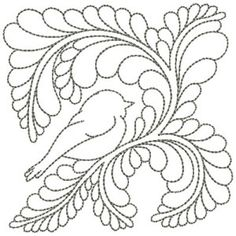 Quilting Whimsy #B81007 38 Designs in collection. Beautiful designs include feathers, birds, swirls and even an angel wing. Also could use as redwork line design in colored, heavier thread