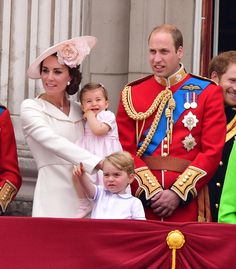 Royal Family Around the World: Britain's Royals Attends the Trooping The Colour 2016 at The Mall on June 11, 2016 in London, England.