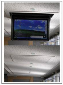 motorized fully automated flip down ceiling tv lift 46 60 120 lb trick home pinterest. Black Bedroom Furniture Sets. Home Design Ideas