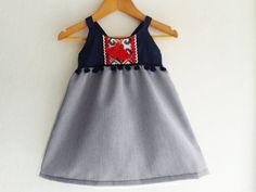 Festive Baby Girl Dress/Boho Chic Dress/ Baby by VivaBohoStyle