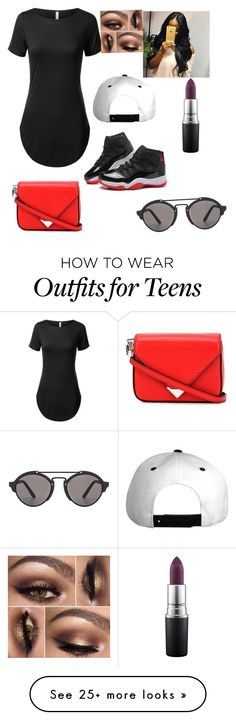 """Teens night .."" by jaeaiko on Polyvore featuring Alexander Wang, MAC Cosmetics and Illesteva"