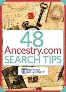 Free e-Book: 48 Ancestry.com Search Tips – Download your copy of 48 Ancestry.com Search Tips for tricks, hints and hacks to unlock new family tree discoveries. This free e-book contains helpful guides to using the genealogy website, including an exclusive excerpt from the Unofficial Guide to Ancestry.com by Nancy Hendrickson - via Family Tree University