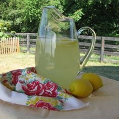 Old-Fashioned Lemonade: 1 cup lemon juice, 1 cup sugar, 6 cups water