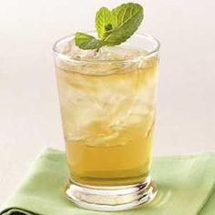 mint julep - bourbon; fresh mint leaves; sugar - yes huh!
