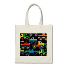 Cool Monsters Trucks Transportation Gifts for Boys Bags SOLD on Zazzle