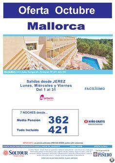 Mallorca - Oferta Hotel Bahamas - Salidas Lunes, Miércoles y Viernes del 1 al 31 Octubre desde Jerez de la Frontera ultimo minuto - http://zocotours.com/mallorca-oferta-hotel-bahamas-salidas-lunes-miercoles-y-viernes-del-1-al-31-octubre-desde-jerez-de-la-frontera-ultimo-minuto/