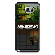 Minecraft Diging TATUM-7273 Samsung Phonecase Cover Samsung Galaxy Note 2 Note 3 Note 4 Note 5 Note Edge