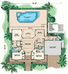 Plan 66055GW: Olde Florida Style