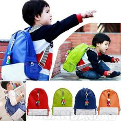 Double-shoulders baby kindergarten student primary school bag male children candy PU backpack 4 color cartoon