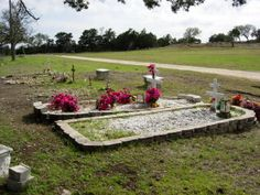 A burial plot on the land.