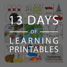 13 Days of Learning Printables