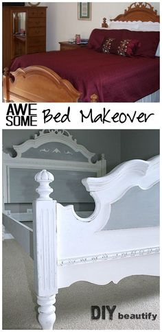 Painting an Oak Bed (One Room Challenge: Spring 2015 Week 2)