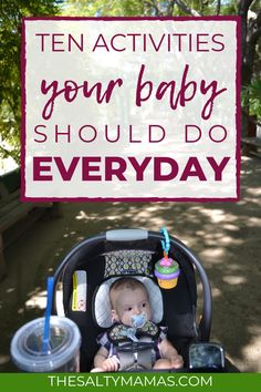 What exactly are you supposed to DO with your baby all day? We've got the ten baby activities you should include in your daily schedule for babies. hacks 10 Activities to Include in Your Daily Schedule for Babies Baby Schedule, Outdoor Baby, Baby Care Tips, Baby Sensory, Baby Learning, Learning Games, Baby Development, Newborn Care, Baby Milestones