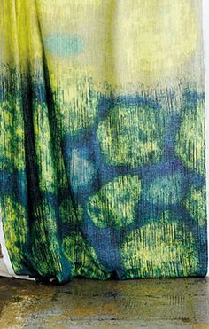 From Sawako Ura for Samuji's home fabric line. Love the colours and image quality - very Van Gogh Starry Night.
