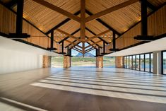 Inhouse Brand Architects executes a modern design for Anura Vineyards' new events venue and bar. Pavilion Architecture, Space Architecture, Contemporary Architecture, Function Hall, Events Place, Hall Design, Amazing Spaces, Design Furniture, Event Venues