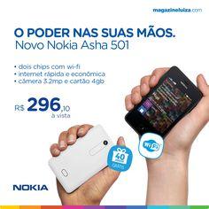 Conheça o novo Nokia Asha ;) http://on.fb.me/199kqgs
