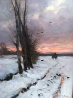Dutch impressionism Anton Mauve Singer Museum Laren, The Netherlands (this really depicts a really cold scene... there really looks like there is a story behind it)