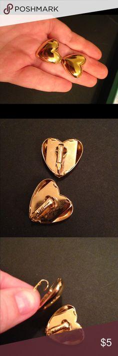 Gold Heart Clip Earrings Avon Vintage Avon. Puffy hearts. Gold tone. Clip earrings. Avon Jewelry Earrings
