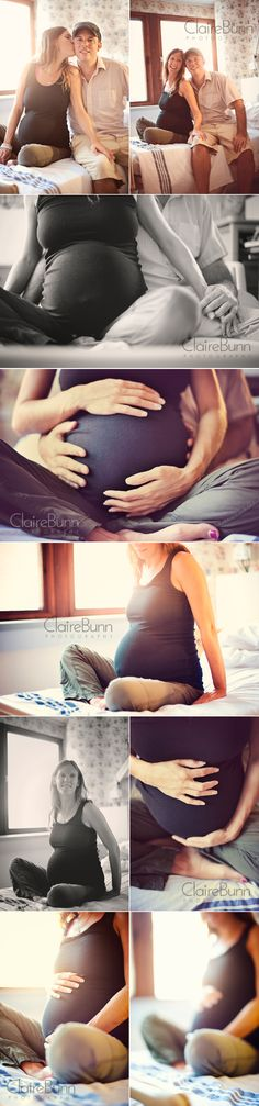 Idea for a maternity shoot while the mom's on bed rest. #Maternity