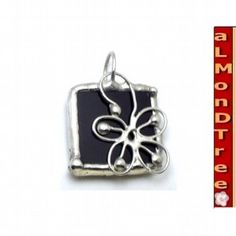Flower stained glass pendant