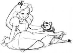 Alice in Wonderland sketch by #SteveThompson