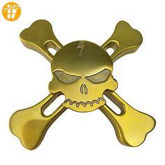 Airsson Fidget Hand Spinner EDC Spinner perfekt für die Entlastung Stress und Angst für Kind und Erwachsene (Brass-Skull) - Fidget spinner (*Partner-Link)