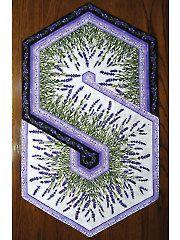 Lavender Market Triangle Frenzy Table Runner Kit