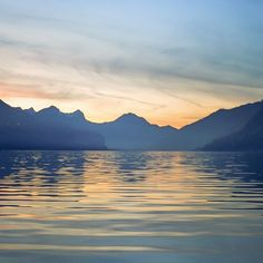 Walensee November sunset. Schweiz, Switzerland