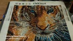 Tiger diamond painting Diamond, Artwork, Painting, Work Of Art, Painting Art, Diamonds, Paintings, Painted Canvas