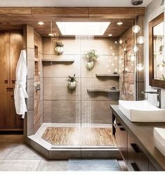 Teak floors in a walk in shower 2019 Dream shower! Teak floors in a walk in shower The post Dream shower! Teak floors in a walk in shower 2019 appeared first on Shower Diy. Modern Bathroom Design, Bathroom Interior Design, Bathroom Designs, Shower Designs, Modern Interior, Apartment Bathroom Design, Modern Luxury Bathroom, Spa Interior, Luxury Kitchen Design